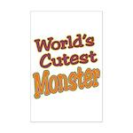 Cutest Monster Costume Mini Poster Print