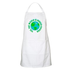 Round Earth BBQ Apron