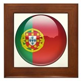 Portugal Flag Jewel Framed Tile