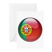 Portugal Flag Jewel Greeting Cards (Pk of 10)