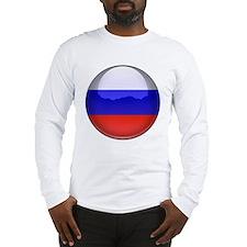 Russia Flag Jewel Long Sleeve T-Shirt