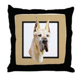 "Great Dane Fawn HS ""Penny"" Throw Pillow"