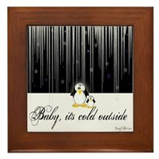 Baby, It's Cold Outside Framed Tile