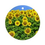 Sunflower Cluster Ornament (Round)