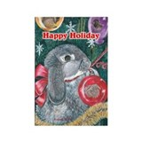 Rabbit Christmas Rectangle Magnet (10 pack)