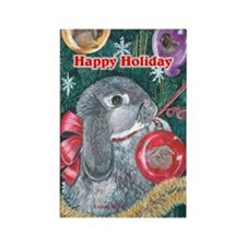Rabbit Christmas Rectangle Magnet