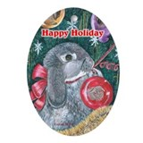 Rabbit Christmas Oval Ornament