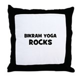 Bikram Yoga Rocks Throw Pillow