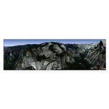 Yosemite Valley Panoramic View Bumper Bumper Sticker