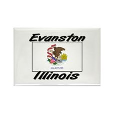 Evanston Illinois Rectangle Magnet