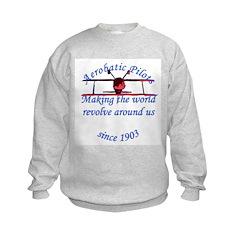 Making the world Revolve arou Kids Sweatshirt