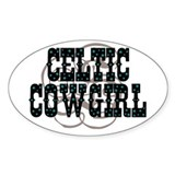 Oval Sticker celtic cowgirl