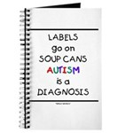 Autism ~ Labels go on soup cans Journal