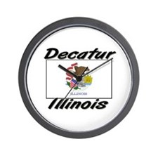 Decatur Illinois Wall Clock