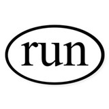 Run Oval Decal