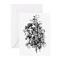 Letter I Greeting Cards (Pk of 20)