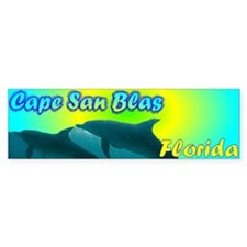 Cape San Blas Florida Bumper Car Sticker