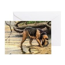 Otterhound Art Greeting Card