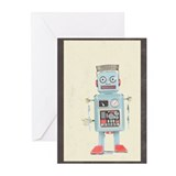 Retro Toy Robot Art Greeting Cards (Pk of 10)