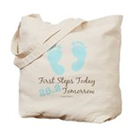 Blue Baby Footprints 26.2 Marathon Tote Bag