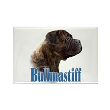 Bullmastiff(brindle)Name Rectangle Magnet