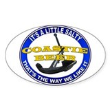 Coastie Beer Oval Decal
