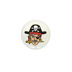 Retro Pirate Mini Button