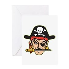 Retro Pirate Greeting Card