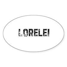 Lorelei Oval Decal