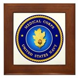 Navy Medical Corps Framed Tile