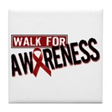 Walk For Awareness Tile Coaster