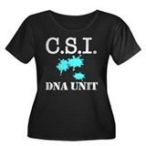 CSI DNA Unit Women's Plus Size Scoop Neck Dark T-S
