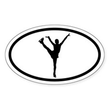 Figure Skater Oval Stickers
