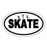 Figure Skating Oval Decal