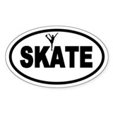 Figure Skating Oval Bumper Stickers