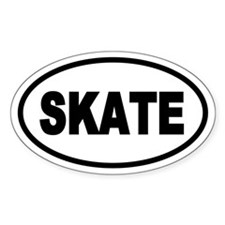 Basic Skating Oval Decal