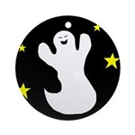 GHOST AT NIGHT Ornament (Round)
