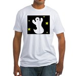 GHOST AT NIGHT Fitted T-Shirt