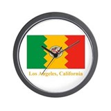 Los Angeles CA Flag Wall Clock