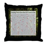 Forks Life Lessons Throw Pillow