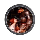 Cute Fantasy woman art Wall Clock