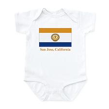 San Jose CA Flag Infant Bodysuit