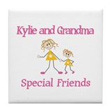 Kylie & Grandma - Friends Tile Coaster