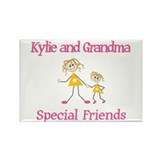 Kylie & Grandma - Friends Rectangle Magnet (100 pa