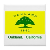 Oakland CA Flag Tile Coaster