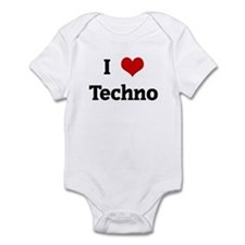 I Love Techno Infant Bodysuit