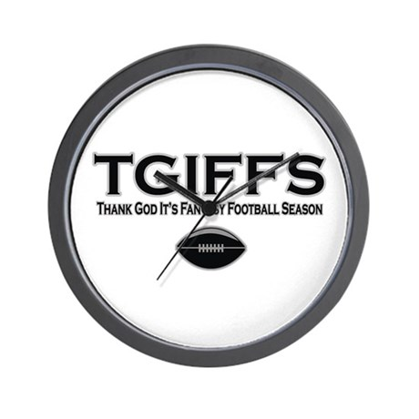 TGIFFS Fantasy Football Seaso Wall Clock