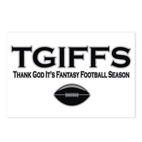 TGIFFS Fantasy Football Seaso Postcards (Package o