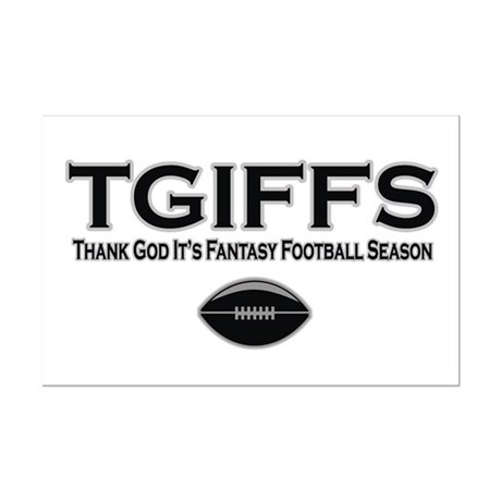 TGIFFS Fantasy Football Seaso Mini Poster Print