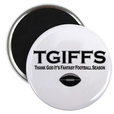"TGIFFS Fantasy Football Seaso 2.25"" Magnet (10 pac"